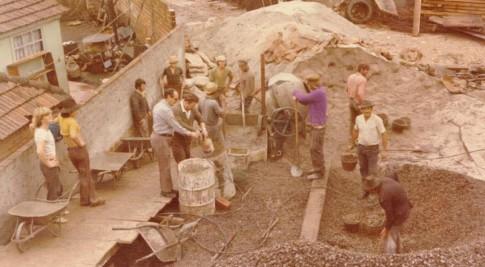 Fundação da obra Sede Construtora Atenas (1975)